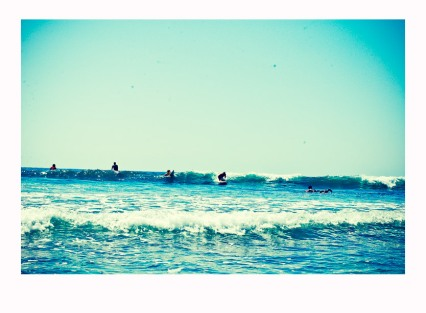 Friendly Line Up at Trestles