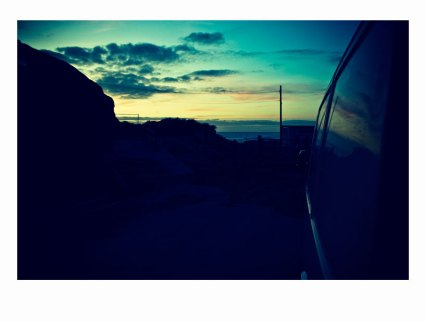sun set reflection porthtowan cornwall scosurf sco surf